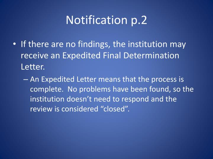Notification p.2