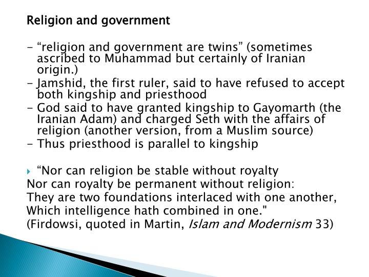Religion and government