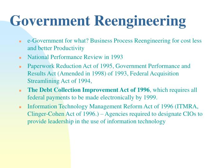 Government Reengineering