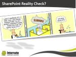 sharepoint reality check