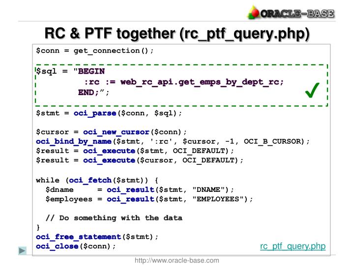 RC & PTF together (rc_ptf_query.php)
