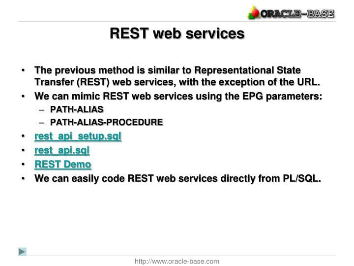 REST web services