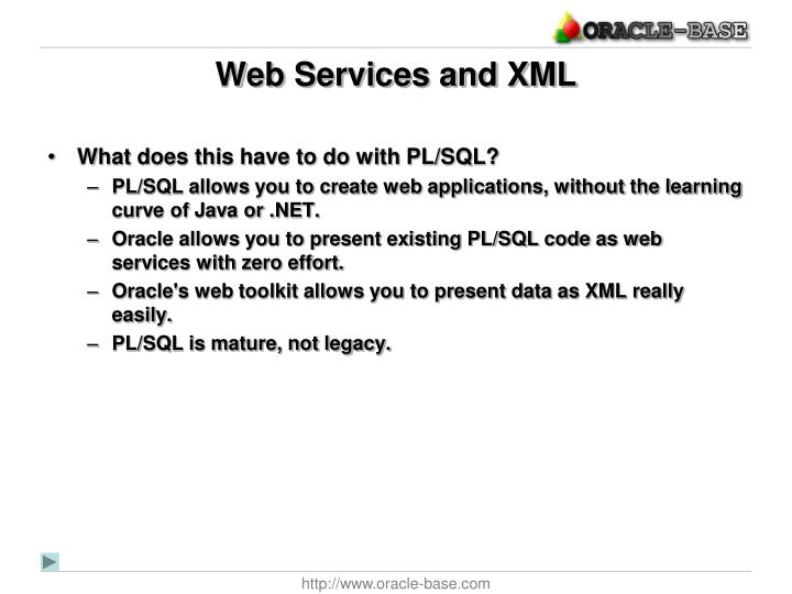 Web Services and XML