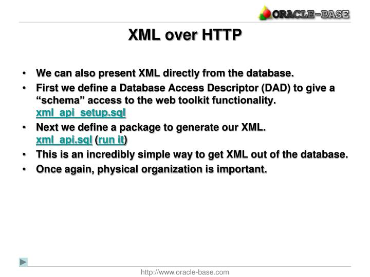 XML over HTTP