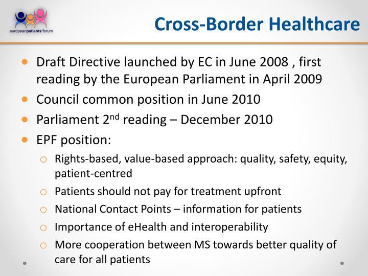 Cross-Border Healthcare
