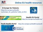 online eu health resources
