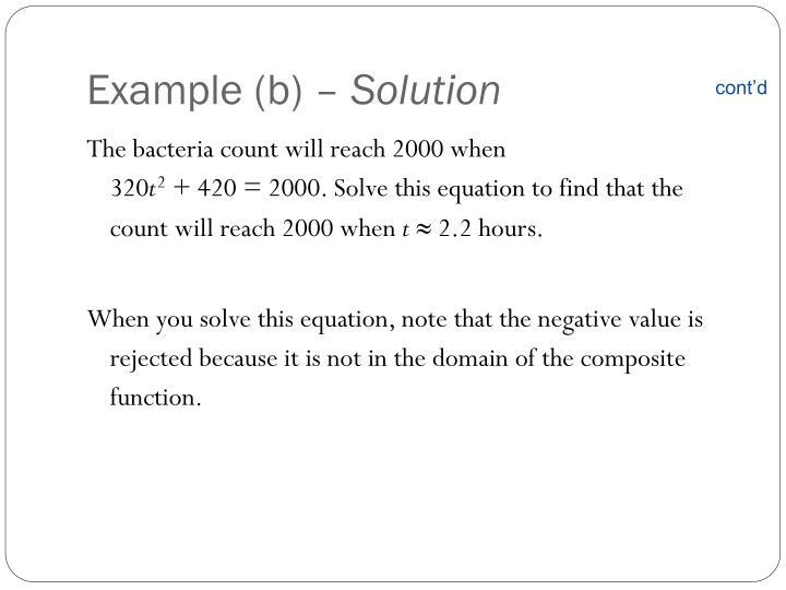 Example (b) –