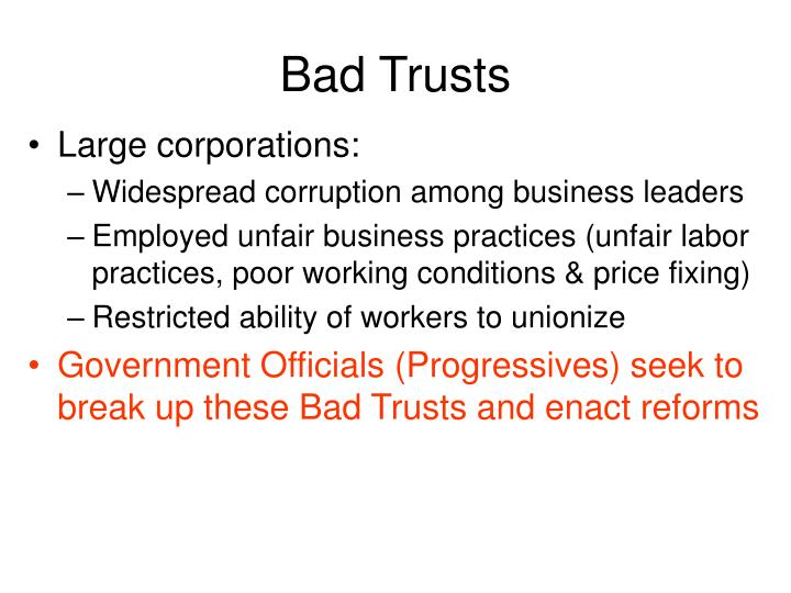 Bad Trusts