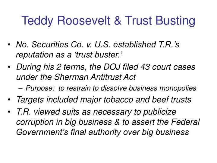 Teddy Roosevelt & Trust Busting