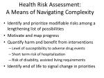 health risk assessment a means of navigating complexity