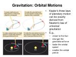 gravitation orbital motions