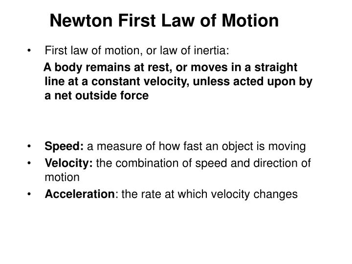 Newton First Law of Motion