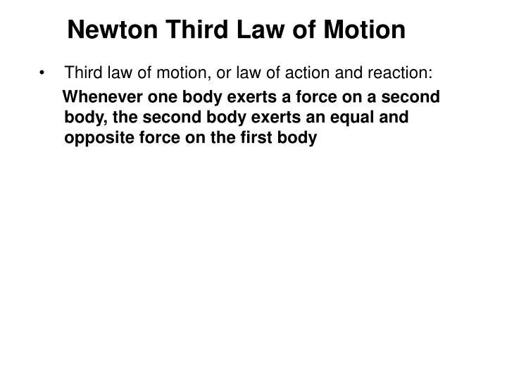 Newton Third Law of Motion