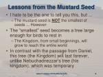 lessons from the mustard seed