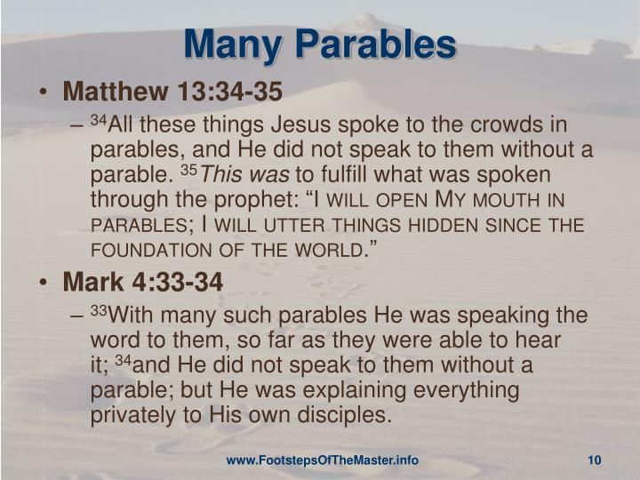 Many Parables