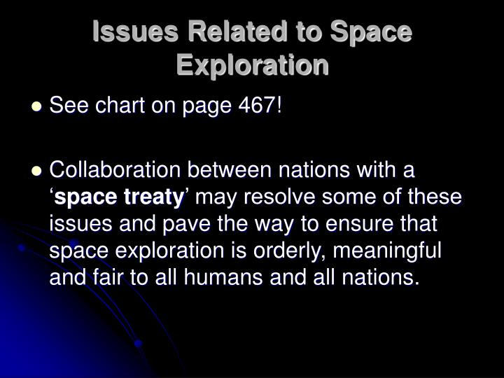 Issues Related to Space Exploration