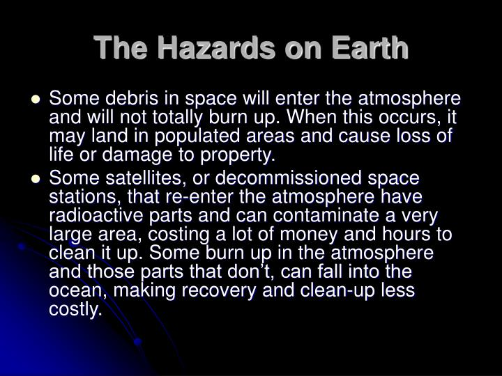 The Hazards on Earth