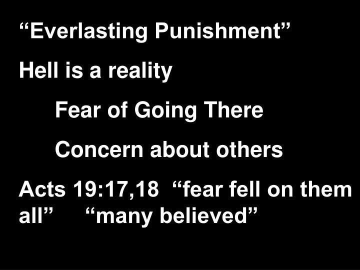 """Everlasting Punishment"""