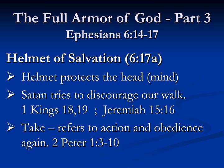 Helmet of Salvation (6:17a)