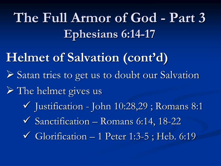 The Full Armor of God - Part 3