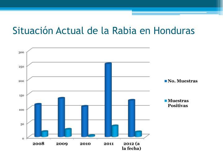 Situación Actual de la Rabia en Honduras