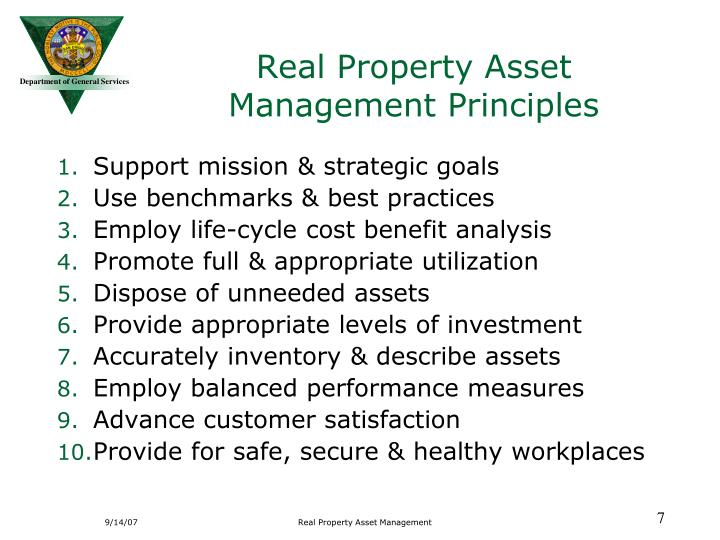 Real Property Asset Management Principles