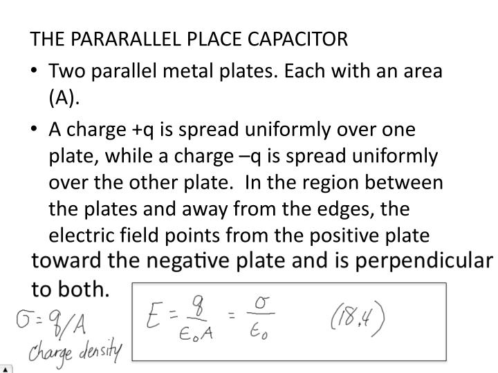 THE PARARALLEL PLACE CAPACITOR