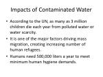 impacts of contaminated water
