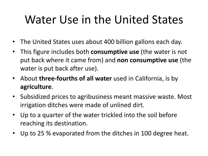 Water Use in the United States