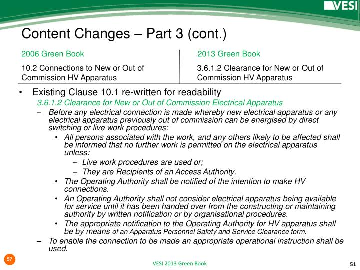 Content Changes – Part
