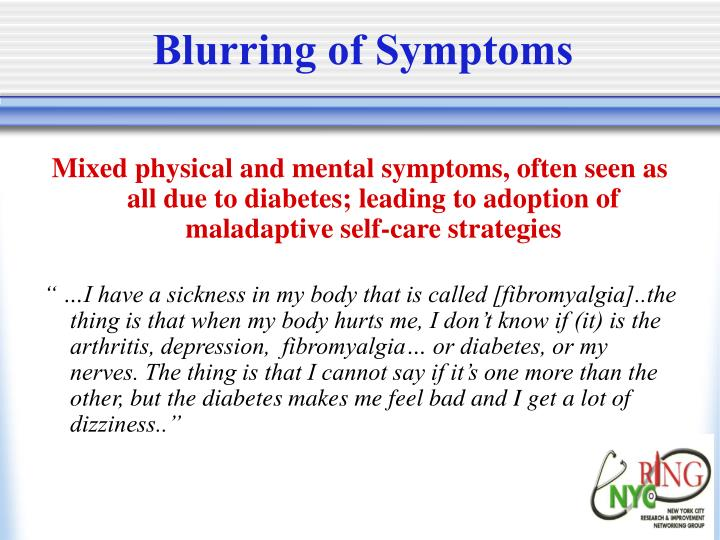Blurring of Symptoms