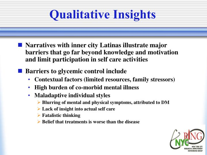 Qualitative Insights
