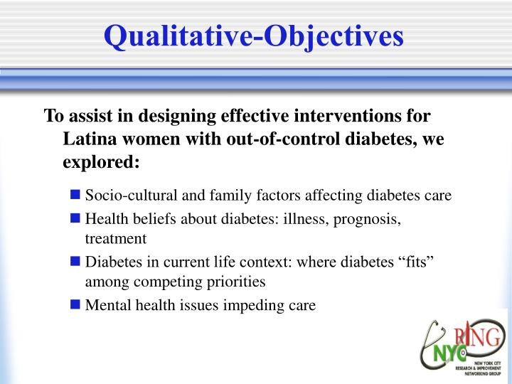 Qualitative-Objectives