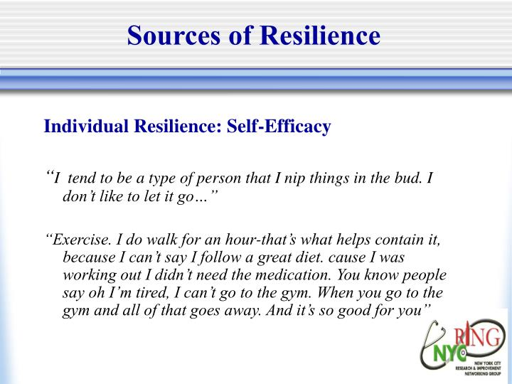 Sources of Resilience