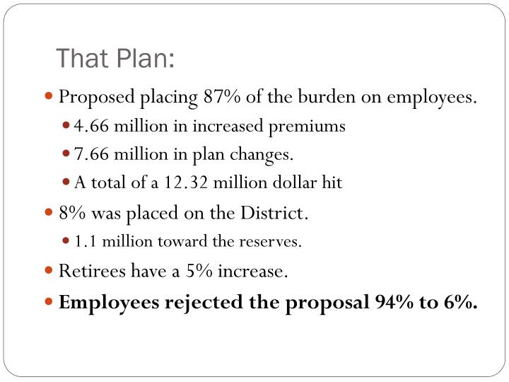That Plan: