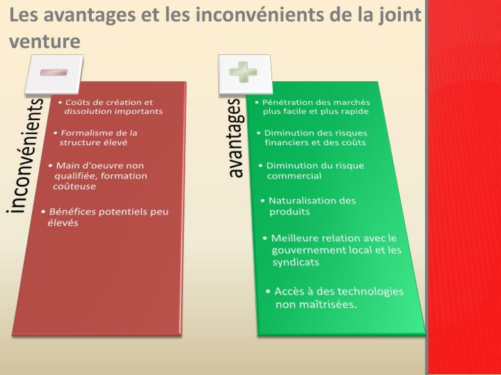 Les avantages et les inconvénients de la joint venture