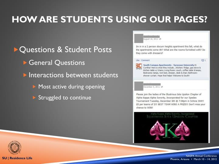 How Are students using our