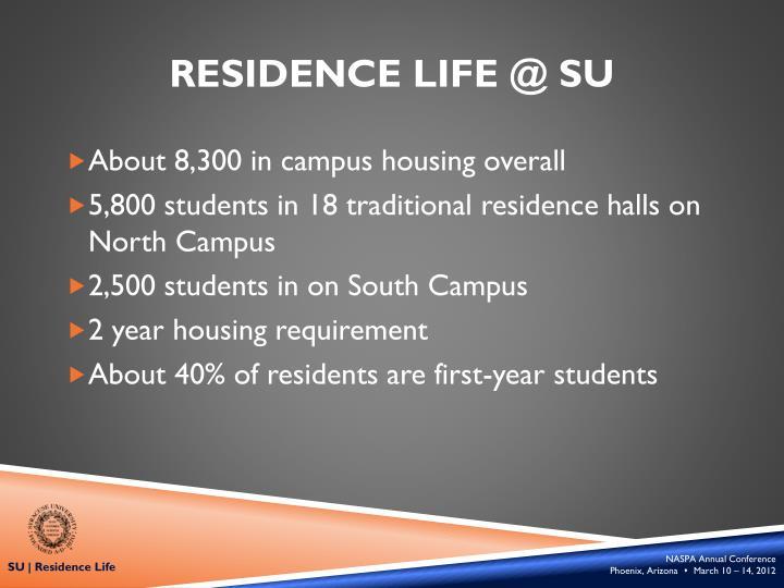 Residence Life @ SU
