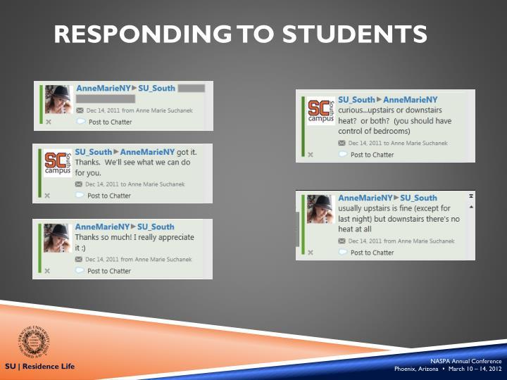 Responding to
