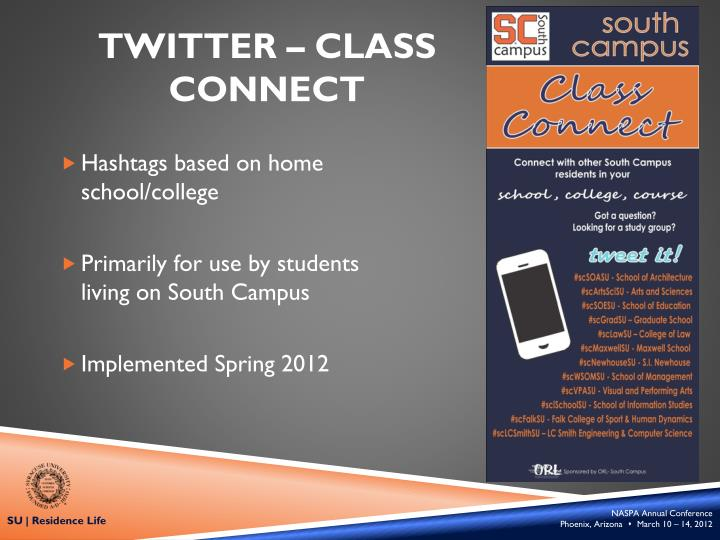 Twitter – Class Connect