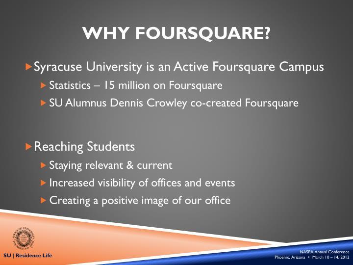 Why Foursquare?