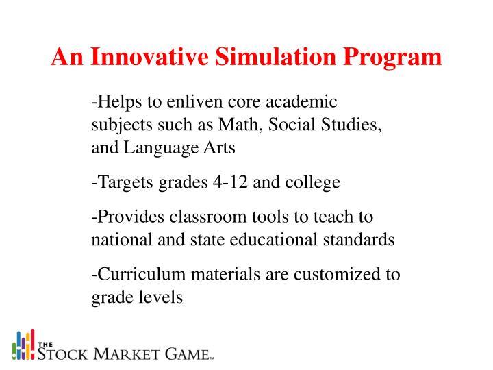An Innovative Simulation Program