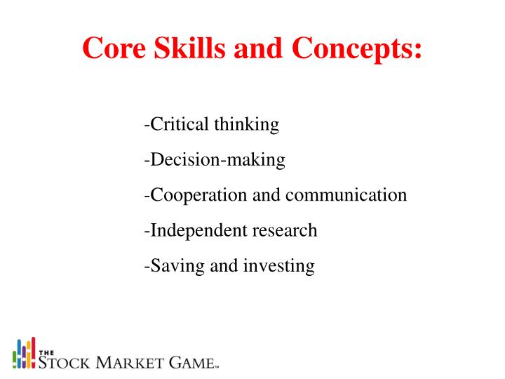 Core Skills and Concepts: