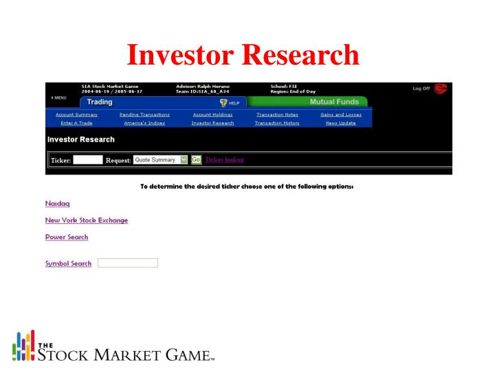 Investor Research