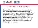 serbian vision for the tourism sector