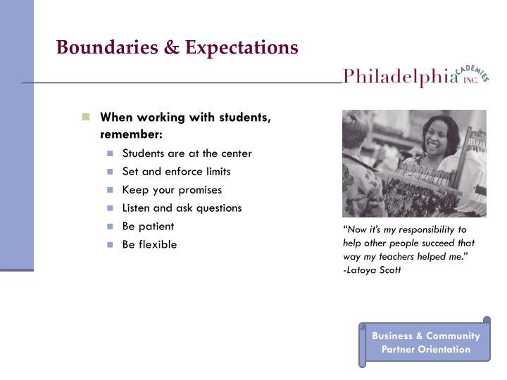 Boundaries & Expectations