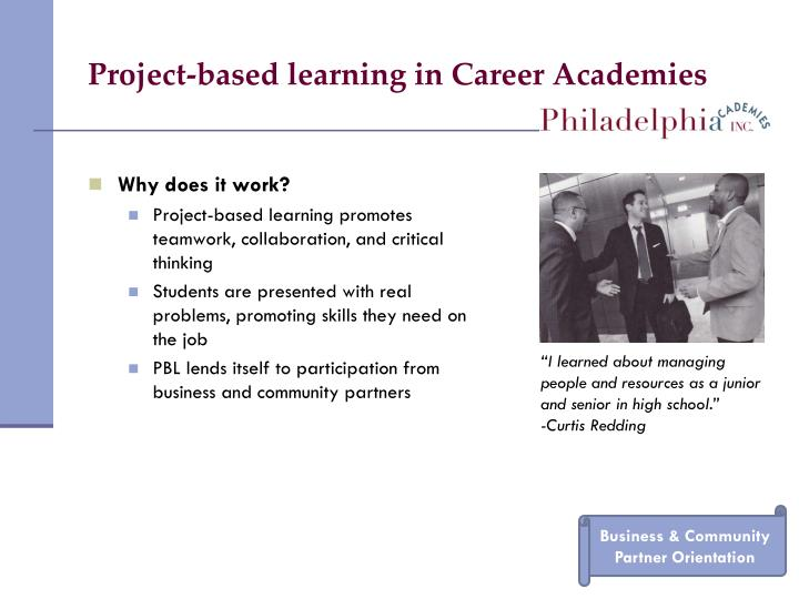 Project-based learning in Career Academies