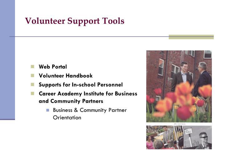 Volunteer Support Tools