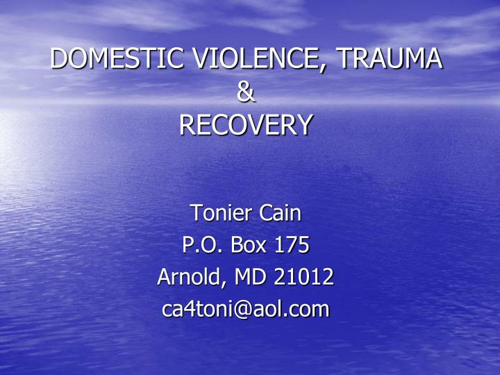 Domestic violence trauma recovery