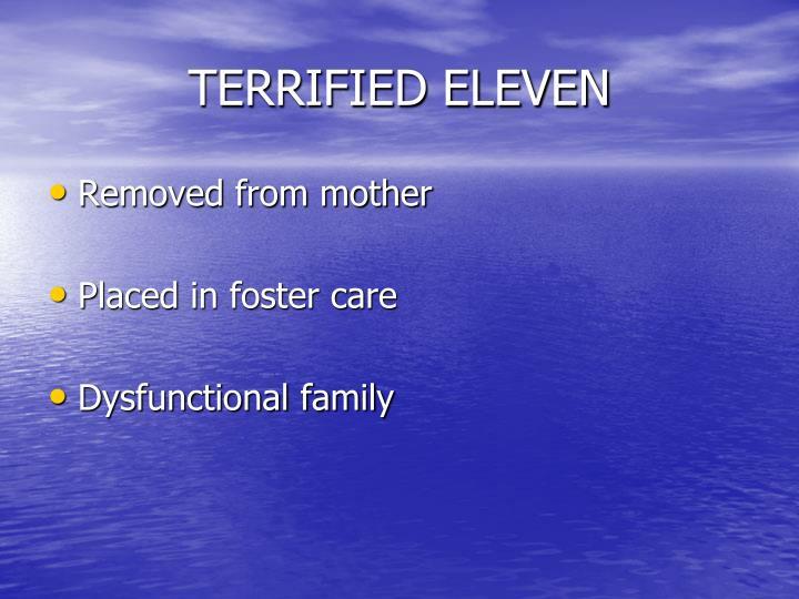 TERRIFIED ELEVEN